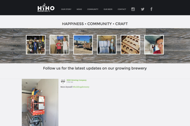 HiHo Brewing Co. Website