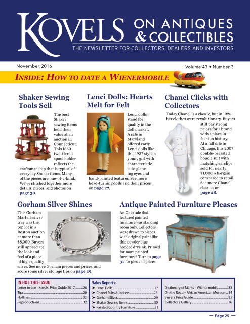 Kovels on Antiques & Collectibles Monthly Newsletter